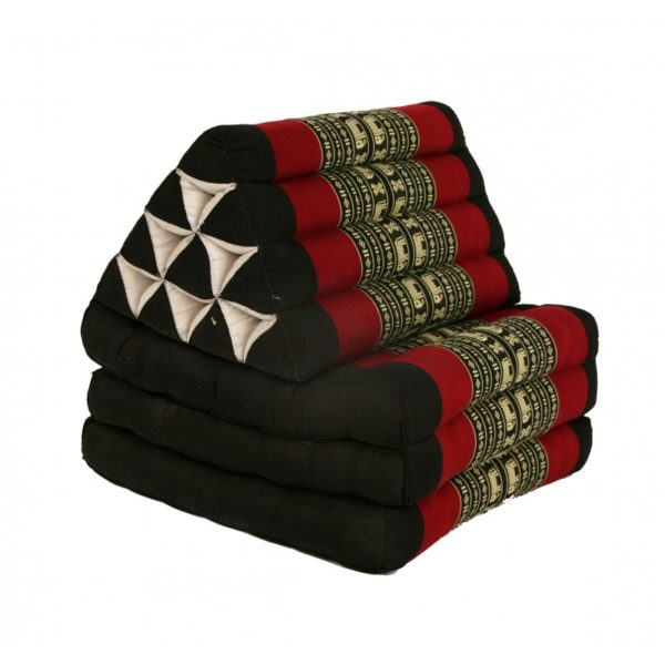 thai-three-fold-triangular-cushion-black-and-red