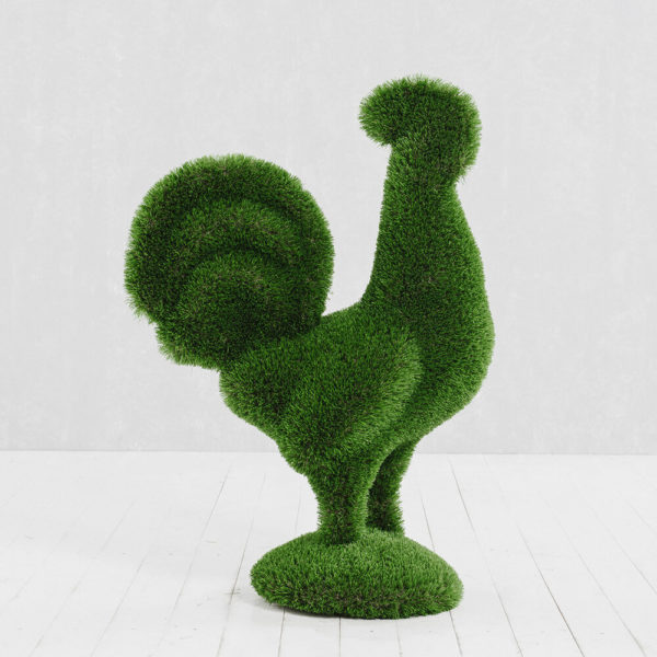 gartenfigur-hahn-aus-gfk-kunstrasen-topiary-helgo_2