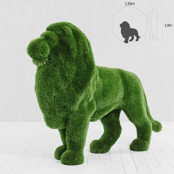 gartenfigur-loewe-stehend-topiary-kunststoff-gruen-mohatu