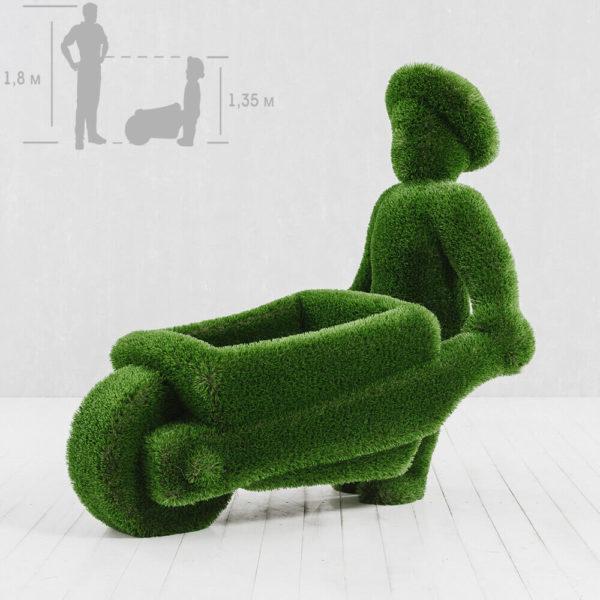 gartenfigur-mann-mit-schubkarre-topiary-kunststoff-uesli