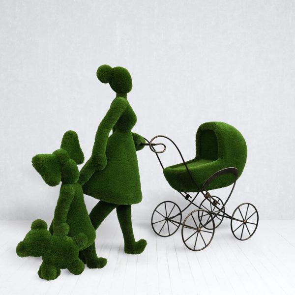 gartenfigur-mutter-mit-kind-kinderwagen-topiary-finnja_2