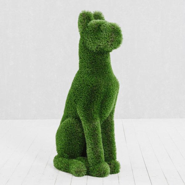 gartenfigur-sitzender-hund-topiary-gfk-kunstrasen-herkol_2