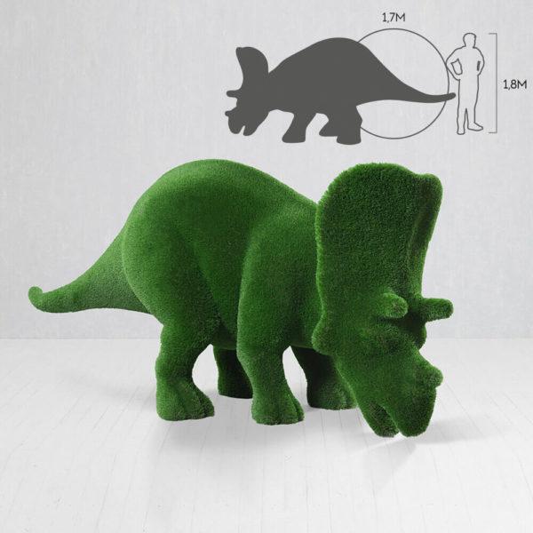 grosse-dino-figur-triceratops-topiary-gfk-kunstrasen-cera