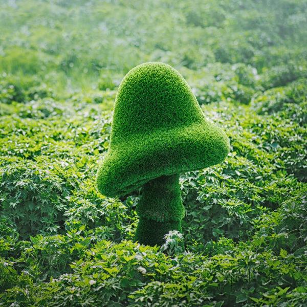 grosse-gartenfigur-pilz-gfk-kunstrasen-topiary-felino
