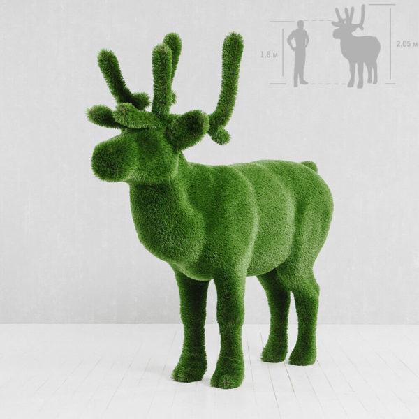 grosse-hirsch-gartenfigur-topiary-gfk-kunstrasen-helmut