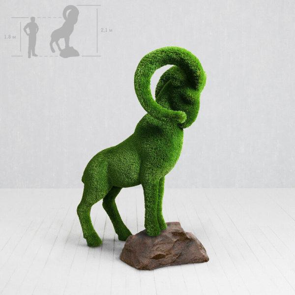 grosse-steinbock-gartenfigur-topiary-gfk-kunstrasen-wilko