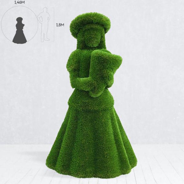 lebensgrosse-gartenfigur-maedchen-mit-blumen-topiary-daike