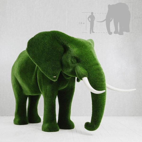 riesige-elefantenskulptur-topiary-kunststoff-gruen-winifred