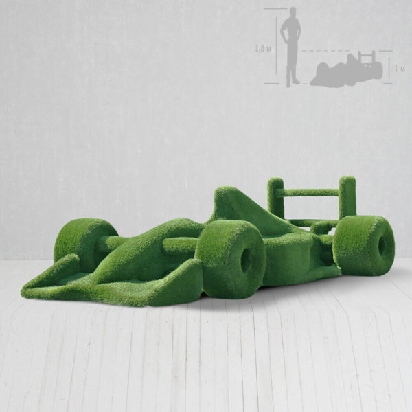 riesige-gartenplastik-rennauto-topiary-gfk-kunstrasen-buzz