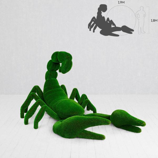 riesige-skorpion-skulptur-topiary-gfk-kunstrasen-widow