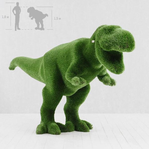 riesige-t-rex-garten-skulptur-topiary-gfk-kunstrasen-scharfzahn