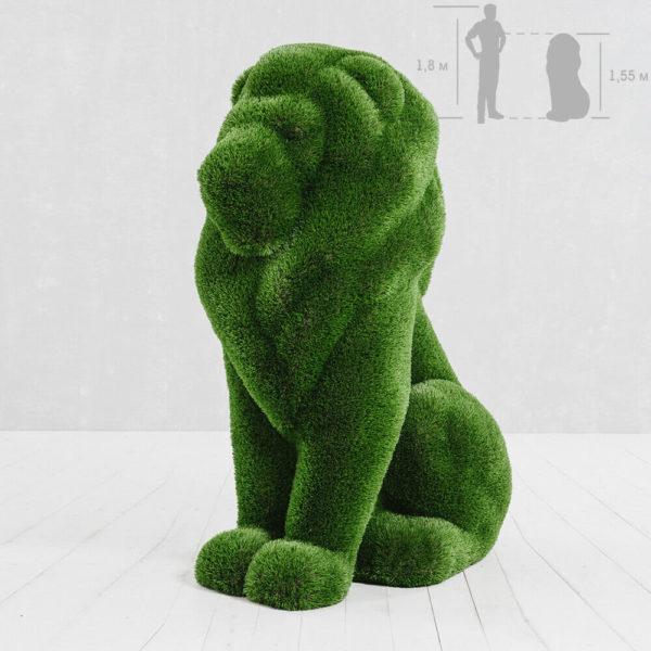 sitzende-loewenskulptur-topiary-gfk-kunstrasen-ahadi