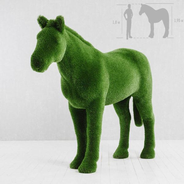 xxl-gartenfigur-pferd-topiary-gfk-kunstrasen-pferdinand