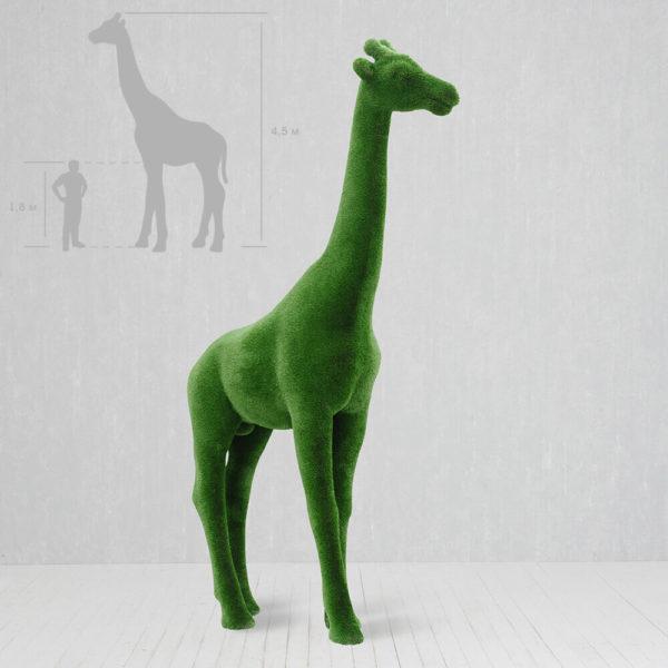 xxl-gartenskulptur-giraffe-lebensgross-topiary-gruen-gustav